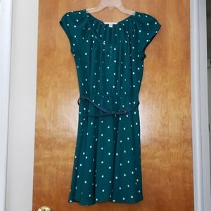 Lc Lauren Conrad Green/teal polka dot dress